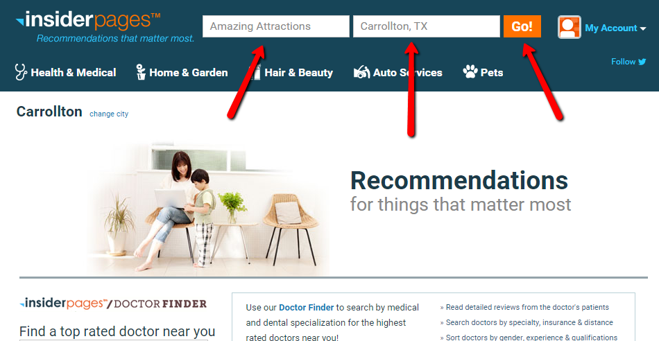 How to write a review on Insider Pages