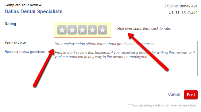 How to write a review on Yelp