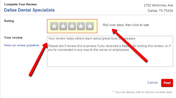 how to write a review on yelp  review central for us